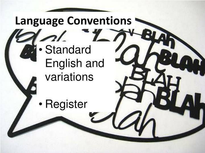 Language Conventions
