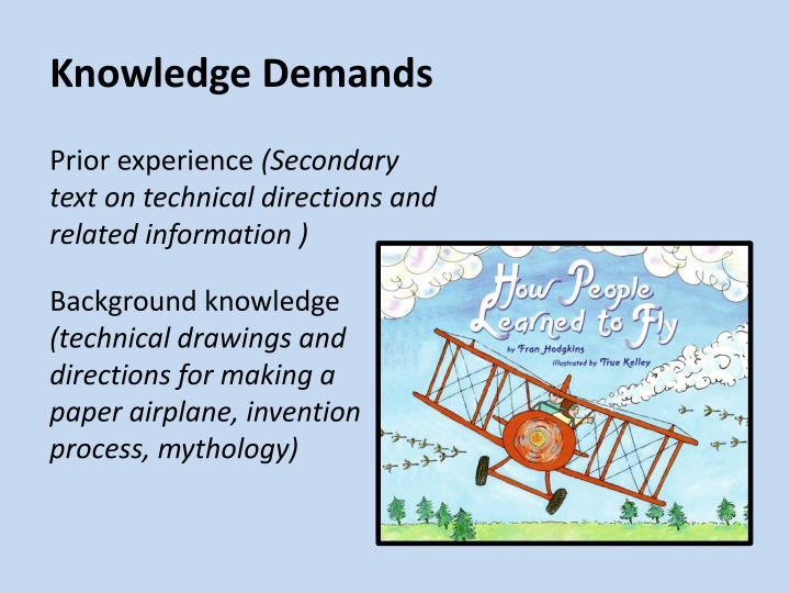 Knowledge Demands