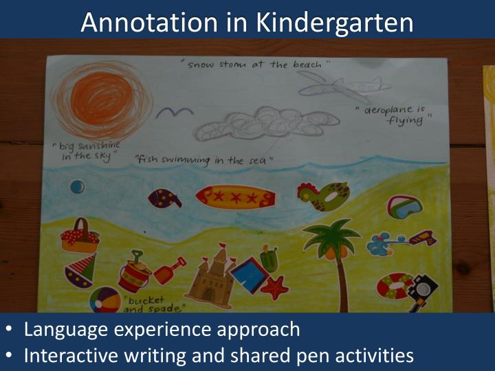 Annotation in
