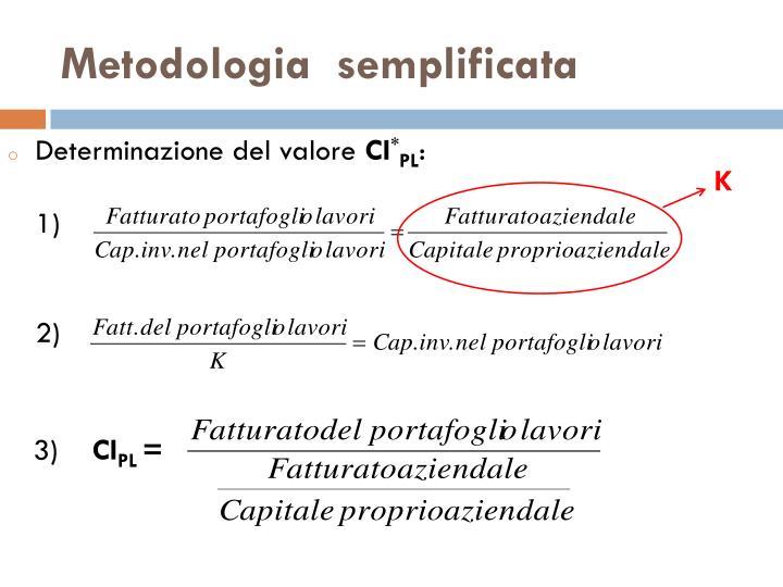 Metodologia  semplificata