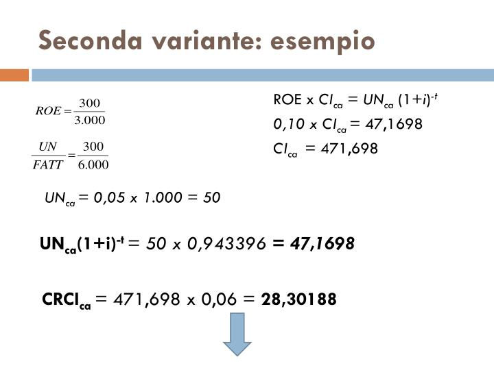 Seconda variante: esempio