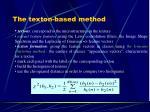 the texton based method