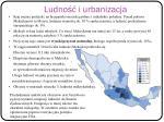 ludno i urbanizacja