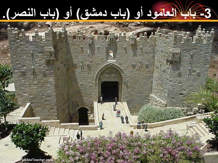 3- باب العامود أو (باب دمشق) أو (باب النصر).