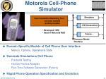motorola cell phone simulator