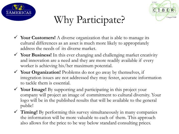 Why participate