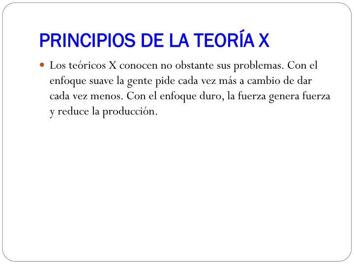 PRINCIPIOS DE LA TEORÍA X