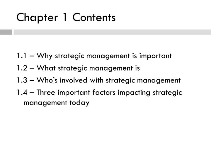 Chapter 1 contents