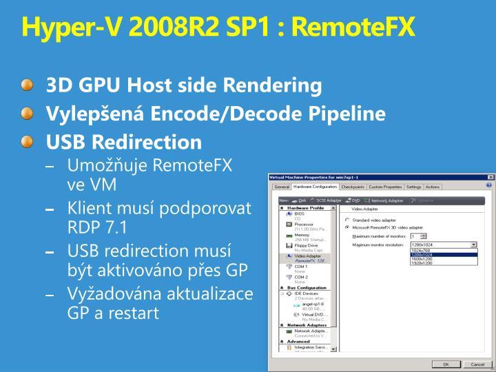 Hyper-V 2008R2 SP1 :