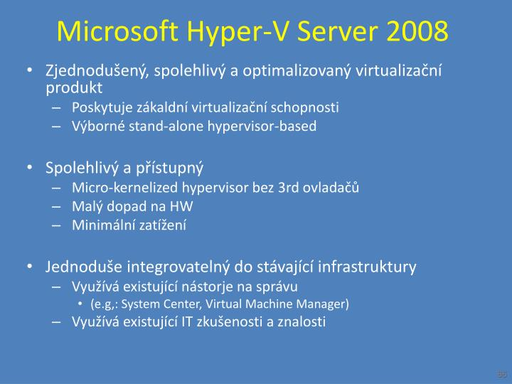 Microsoft Hyper-V Server 2008