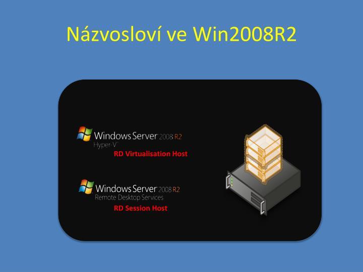 Názvosloví ve Win2008R2