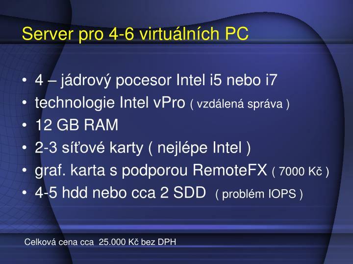Server pro 4-6 virtuálních PC