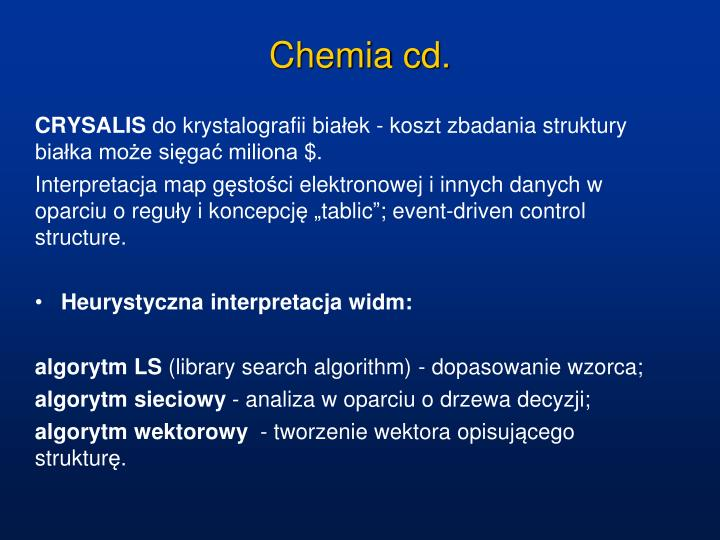 Chemia cd.