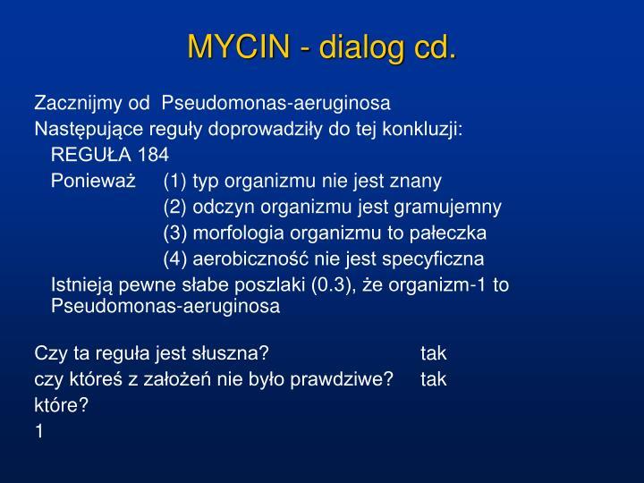 MYCIN - dialog cd.