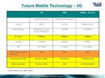 future mobile technology 4g