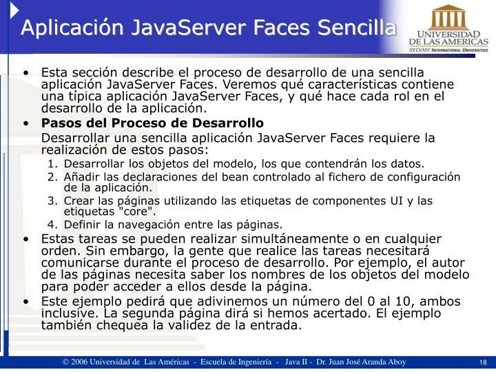 Aplicación JavaServer Faces Sencilla