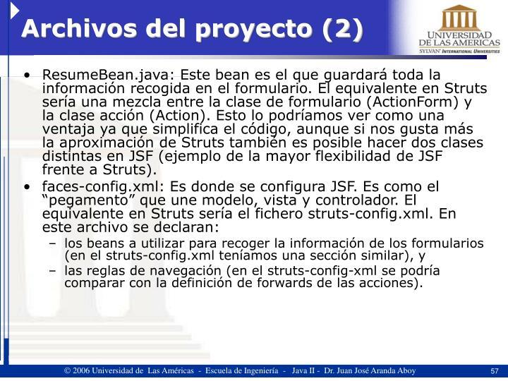 Archivos del proyecto (2)