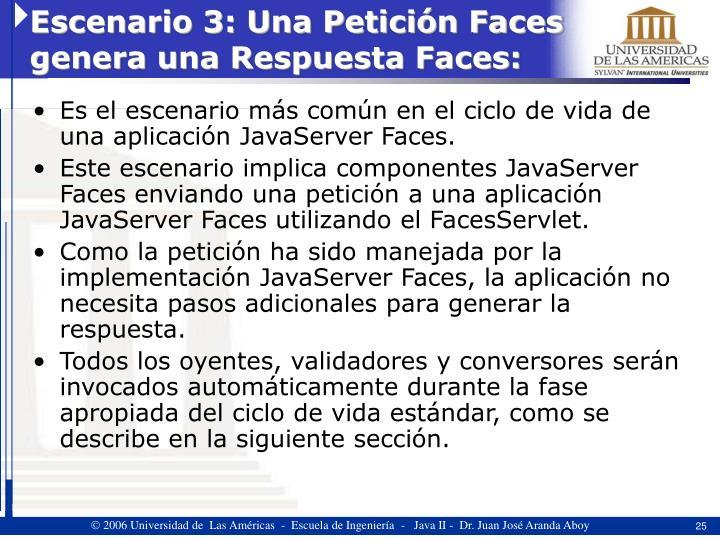 Escenario 3: Una Petición Faces genera una Respuesta Faces: