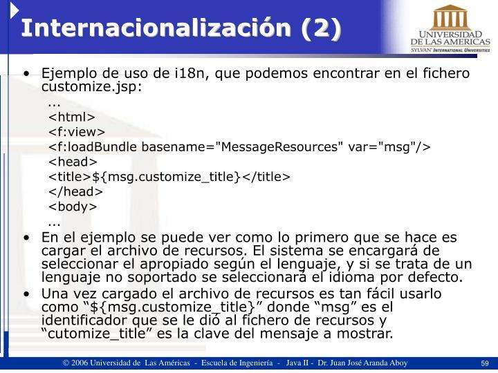 Internacionalización (2)