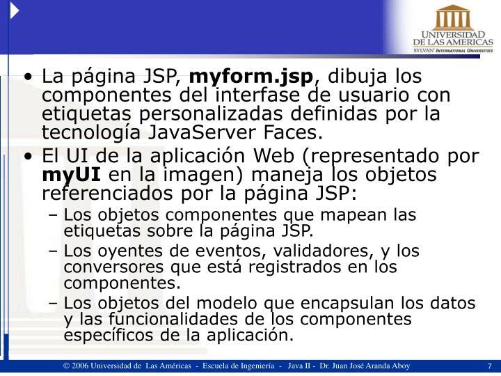 La página JSP,