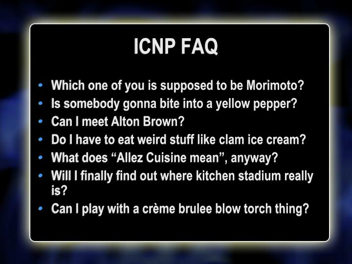 ICNP FAQ