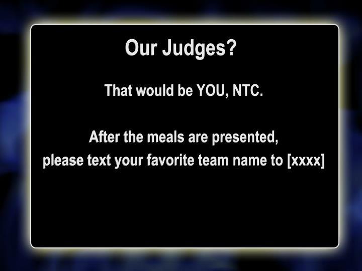 Our Judges?