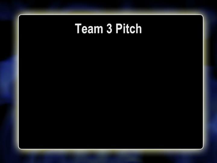 Team 3 Pitch