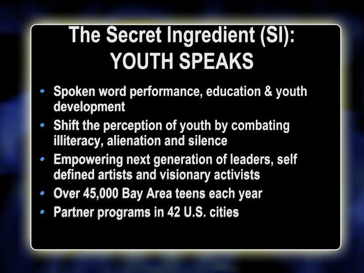 The Secret Ingredient (SI):