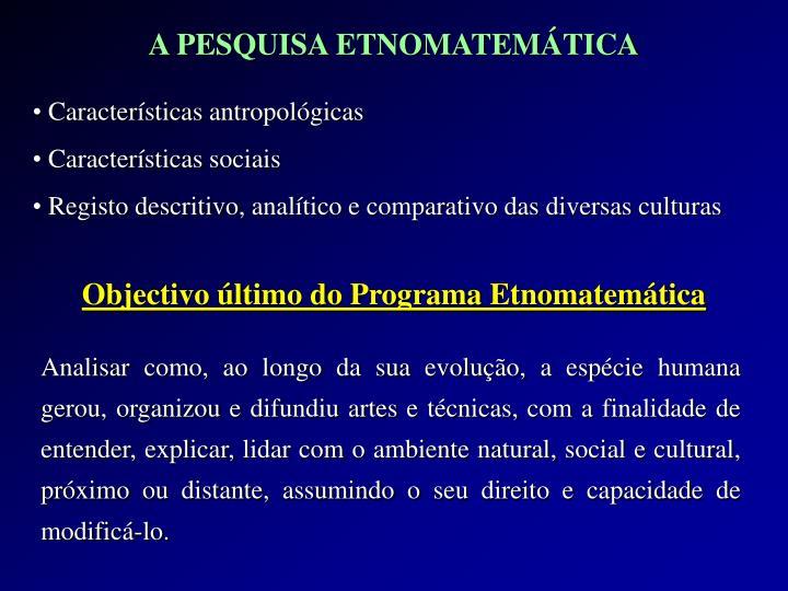 Características antropológicas