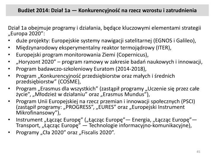 Budżet 2014: Dział
