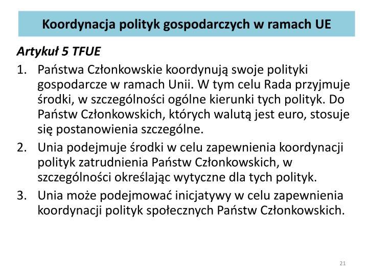 Koordynacja polityk gospodarczych
