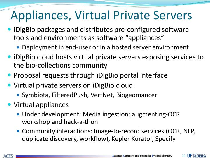 Appliances, Virtual Private Servers
