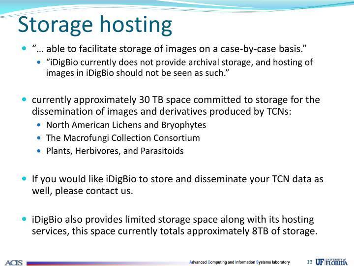 Storage hosting