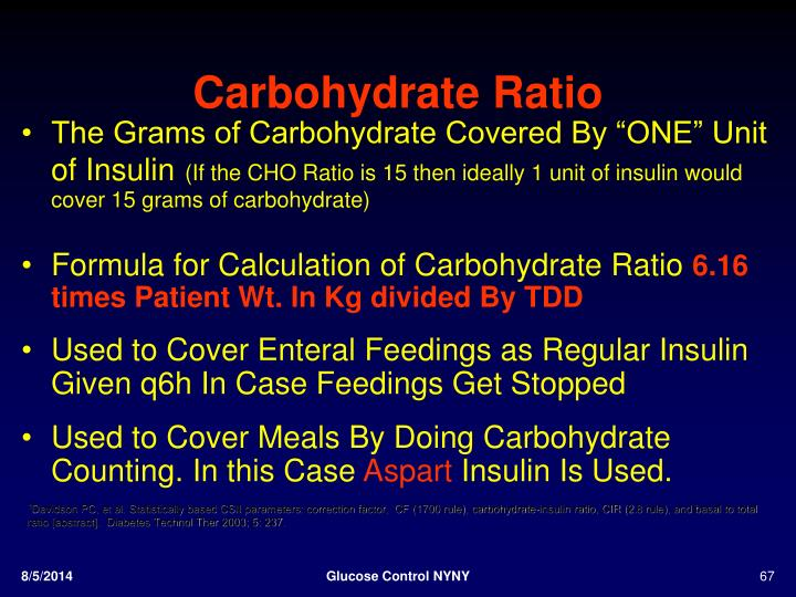 Carbohydrate Ratio