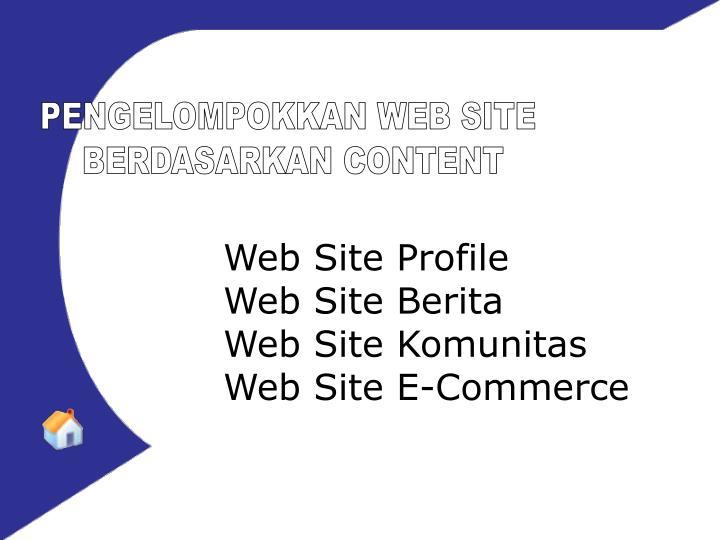 PENGELOMPOKKAN WEB SITE
