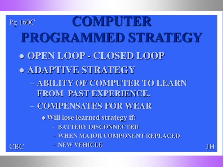 COMPUTER PROGRAMMED STRATEGY
