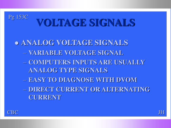 Voltage signals