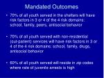 mandated outcomes1