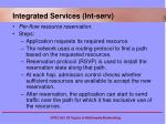 integrated services int serv