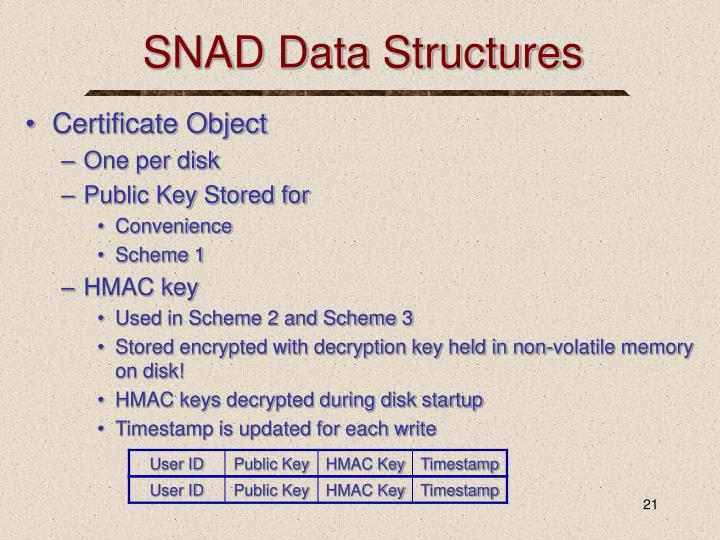 SNAD Data Structures