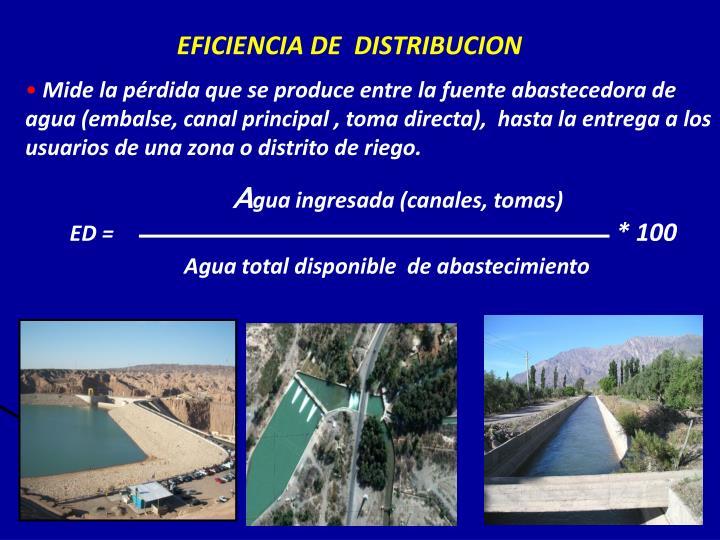 Eficiencia de distribucion
