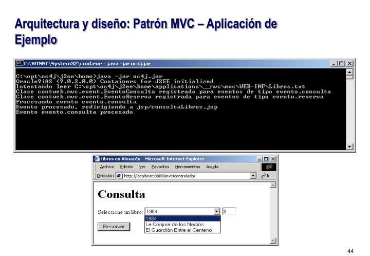 Arquitectura y diseño: Patrón MVC – Aplicación de Ejemplo
