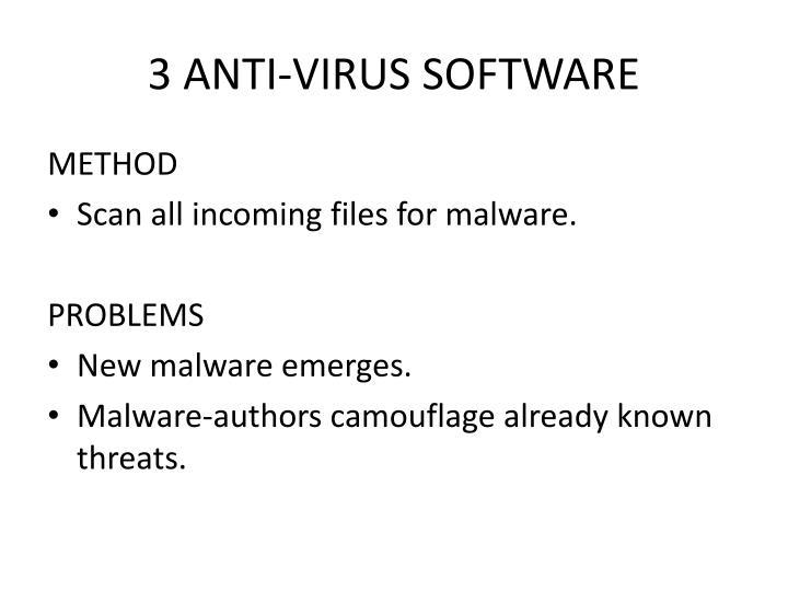 3 ANTI-VIRUS SOFTWARE