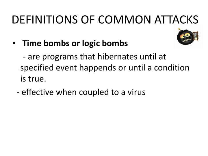 DEFINITIONS OF COMMON ATTACKS