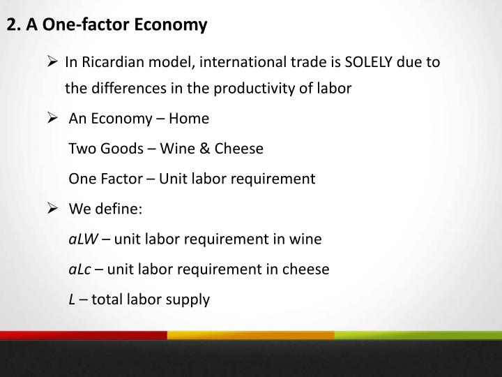 2. A One-factor Economy
