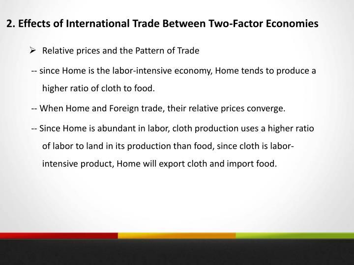 2. Effects of International Trade Between Two-Factor Economies