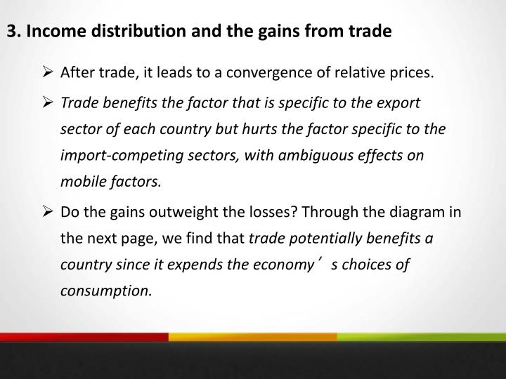 3. Income distribution and the gains from trade