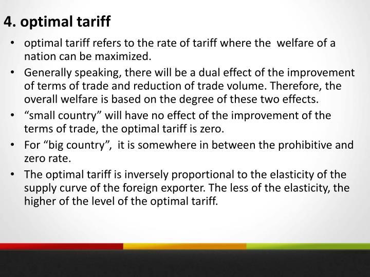 4. optimal tariff