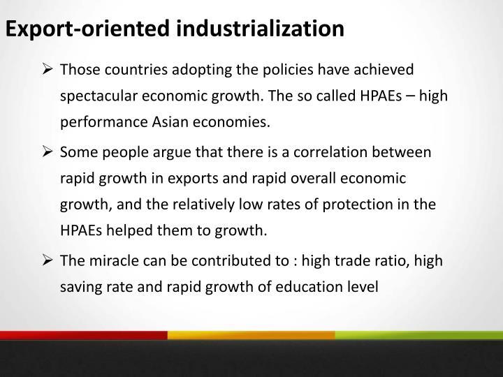 Export-oriented industrialization