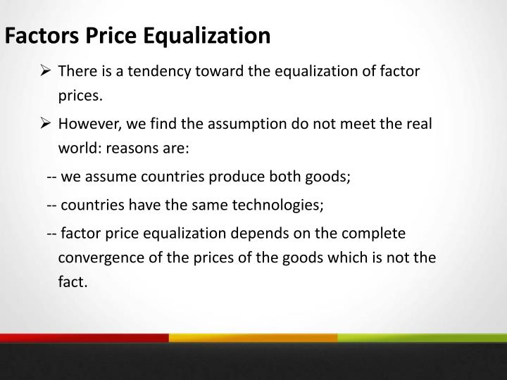Factors Price Equalization